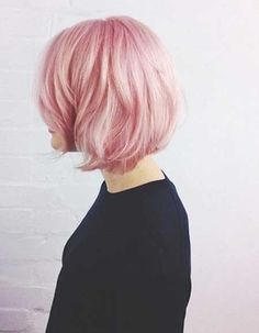 Cool and Refreshing Bob Hair with Nice Light Pink Color