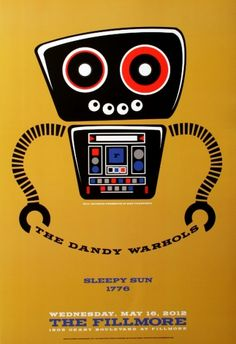 the dandy warhols music posters | The Dandy Warhols - The Fillmore - May 16, 2012 (Poster)