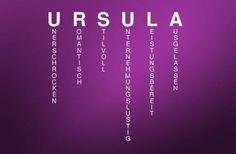 Bedeutung des Vornamens URSULA