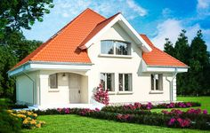 Ovakvu kuću žele svi da imaju: Možete je imati i vi za samo eura (Foto) Flat House Design, House Outside Design, Dream Home Design, House Doors, Facade House, Home Building Design, Building A House, Bungalow Style House, Modern Tv Room