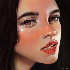 Digital Art Girl, Digital Portrait, Portrait Art, Realistic Drawings, Art Drawings, Fan Art, Copics, Aesthetic Art, Female Art