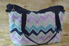 Lucy Camera  Bag Purse Navy Blue light blue lavender by DarbyMack, $89.99
