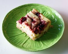 Coconut & Lime: Cranberry Cheesecake Squares