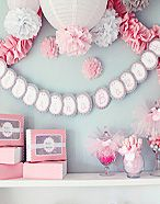 Luna Bazaar website for ordering Pom-Poms, tissue paper, and paper party supplies