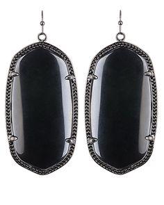 Danielle Gunmetal Earrings in Black - Kendra Scott Jewelry. Coming October 15!