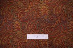 Fabric by the Yard :: Robert Allen Tamil Paisley Tapestry Upholstery Fabric in Henna $22.95 per yard - Fabric Guru.com: Fabric, Discount Fabric, Upholstery Fabric, Drapery Fabric, Fabric Remnants, wholesale fabric, fabrics, fabricguru, fabricguru.com, Waverly, P. Kaufmann, Schumacher, Robert Allen, Bloomcraft, Laura Ashley, Kravet, Greeff