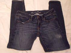 <G>  Womans American Eagle Outfitters denim leggings 6 short…