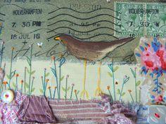 1916 envelope mixed media artwork ~ detail