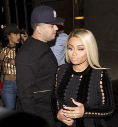 Blac Chyna and Rob Kardashian were seen arriving at 'Ace of Diamonds' Strip club in West Hollywood, CA Blac Chyna And Rob, Brown Skin, West Hollywood, Kardashian, Blonde Hair, Diamonds, Club, Celebrities, Model