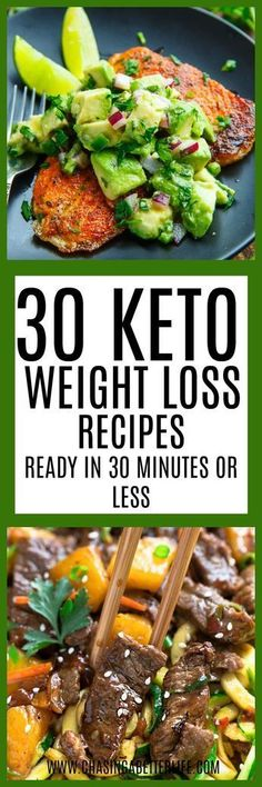 These keto dinners are amazing and in only 30 minutes! So pinning!
