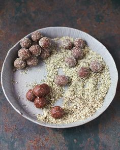Jamie Oliver's tasty energy balls with dates, coca, and pumpkin seeds   Everyday Super Food by Jamie Oliver