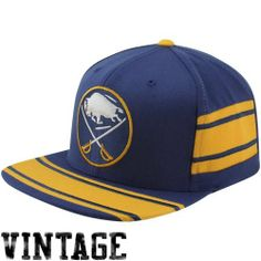 NHL Mitchell & Ness Buffalo Sabres Vintage Team Jersey Adjustable Snapback Hat - Royal Blue Mitchell & Ness. $28.88