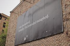 looking up metaphors for teaching I remember this sign on Sheffield in Chicago :-)