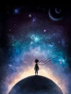 The Little Prince illustrations 2 on Behance – Red Wallpaper The Little Prince, Insta Photo, Belle Photo, Night Skies, Fantasy Art, Cool Art, Concept Art, Art Photography, Illustration Art