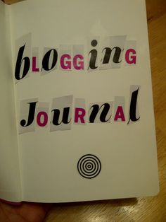 Find out how a journal saved my blog