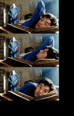 Adorable... and Richard hovering there in the background is hilarious for some reason. #merlin