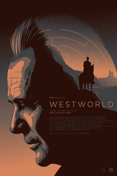 "Unofficial alternative movie poster for the HBO television series ""Westworld"" as part of the Season One tribute for Poster Posse. Westworld Hbo, Westworld 2016, Westworld Season, Michael Crichton, Film Science Fiction, Movie Synopsis, Movies And Series, Ex Machina, Alternative Movie Posters"