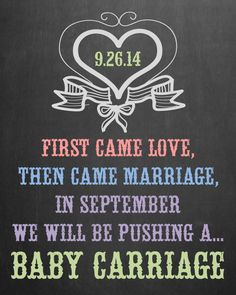 Pregnancy Announcement Chalkboard Photo Prop // by MMasonDesigns, $15.00