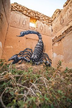 Streetart: ROA New Pieces in Djerba // Tunisia and in Bromölla // Sweden (17 Pictures) > Design und so, Film-/ Fotokunst, Paintings, Streetstyle, Travel > animals, artwork, bromoella, djerba, mural, octopus, roa, sweden, tunisia