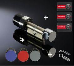Elektronischer Schließzylinder ISEO Libra Smart Mifare IP54 Standard-Set