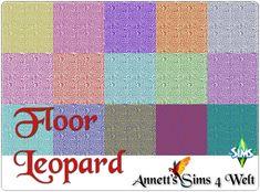 """Annett's Sims 4 Welt: Floors """"Leopard"""""""