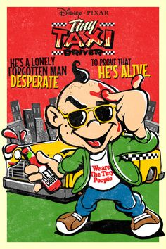 Disney/Pixars Tiny Taxi Driver by Butcher Billy by Butcher Billy, via Behance