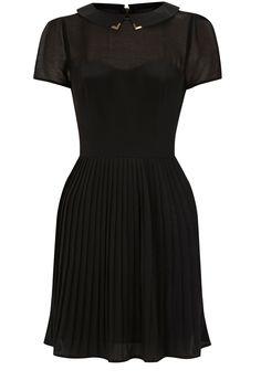 Oasis Metal Tipped Collar Dress - John Lewis Collar Tips, Oasis Dress, Short Sleeve Dresses, Dresses With Sleeves, Collar Dress, Dress Codes, Cute Fashion, Dress Me Up, Elegant Dresses