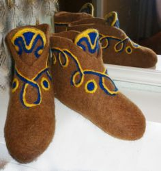 Felt boots for home