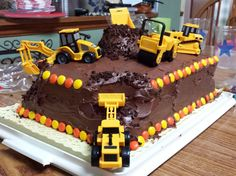 George's 2nd Birthday Cake - with Trucks!