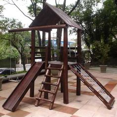 r$4.478,00  Foto principal de Playground de Tronco Casa do Tarzan