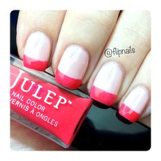 Julep Maven Box with Madison and Grace. Katie achieved this cute French mani using the trendy Nudes and Neons inspired by Spring Resort Wear collections!