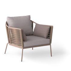 One seater Portofino - custom-made rope outdoor furniture. Outdoor Armchair, Outdoor Chairs, Outdoor Decor, Wooden Furniture, Furniture Design, Outdoor Furniture, Stackable Chairs, Chair Design, Your Space