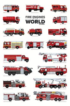 Fire Engines of the World - Auto X Firefighter Paramedic, Firefighter Decor, Volunteer Firefighter, Firefighter Equipment, Firefighter Jacket, Firefighter Workout, Firefighter Training, Firefighter Pictures, Fire Equipment