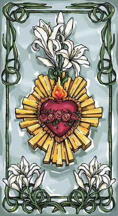 Immaculate Heart Of Mary Prayer Card by ModHMary on Etsy Catholic Art, Religious Art, Mary Tattoo, Prayers To Mary, Sacred Heart Tattoos, Heart Of Jesus, Blessed Virgin Mary, Virgin Mary Art, Prayer Cards