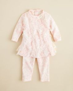 Biscotti Infant Girls' Lace Trellis Dress & Leggings Set - Sizes 3-9 Months | Bloomingdale's