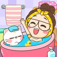 Cute Cartoon Pictures, Cute Love Cartoons, Cute Pictures, Star Wars Stickers, Cute Stickers, Cartoon Gifs, Cute Cartoon Wallpapers, Good Night Gif, Hello Kitty