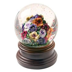 Exclusive Pansies Musical Water Globe *** Find out more about the great product at the image link.