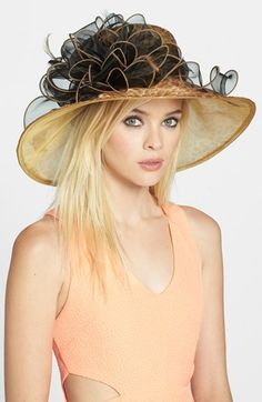 August Hat 'Olympia' Organza Hat available at #Nordstrom
