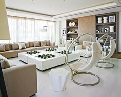 Modern design living room by top interior designer Kelly Hoppen #interiordesigner #bestinteriordesigners #interiordesigninspiration home interior design, interior design ideas, interior decorating ideas Visit us at www.luxxu.net