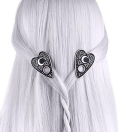 Ouija Board Planchette Hair Clips Spirits Occult Moon