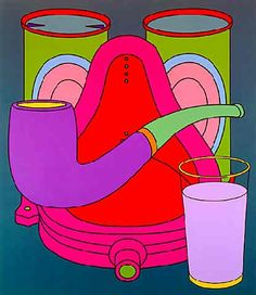 Michael Craig-Martin     - Common History: Totem - Acrylic on Canvas - 1999