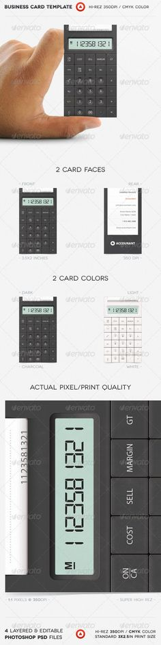 Accountant Business Card - GraphicRiver Item for Sale