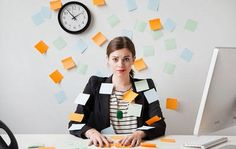 woman stressed work office
