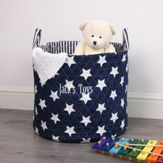 Personalised Navy Star Storage Bag