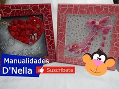 """(105) Como Hacer Manualidades Con Botones By:""""Taller Nella 2017"""" - YouTube Decoupage, Tableware, Frame, Youtube, Home Decor, Amor, Recycled Crafts, Buttons, Atelier"""