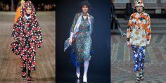 '60s Florals  - HarpersBAZAAR.com Spring 2018 Fashion Trends, 60s Fashion Trends, 1960s Fashion, Big Fashion, Fashion 2017, Autumn Fashion, Womens Fashion, Trending Fashion, Ladies Fashion