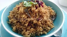 Tamarind Rice - Plain rice made special with a south Indian twist.