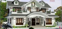 2943 Sqft 4 Bedroom Luxury Villa design – Homeinner – Free House plan,Home Design Collection House Outside Design, House Gate Design, Village House Design, Bungalow House Design, House Front Design, Cool House Designs, Villa Design, Indian House Exterior Design, Classic House Exterior