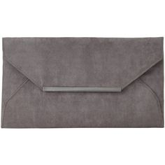 John Lewis Abby Envelope Clutch Bag, Ash Grey (175 RON) ❤ liked on Polyvore featuring bags, handbags, clutches, grey handbags, imitation handbags, evening clutches, john lewis and special occasion handbags