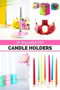 20 Beautiful DIY Candleholders - Round Up
